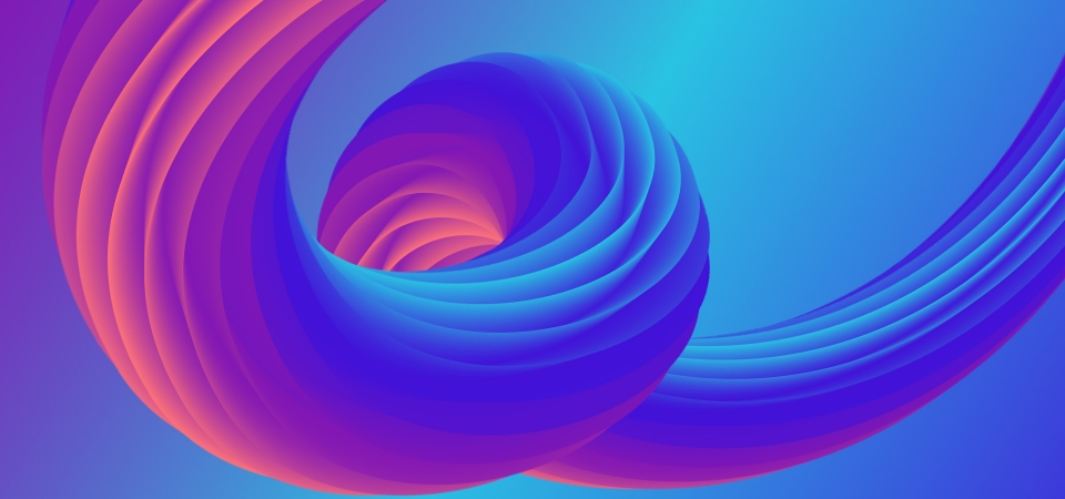 Colorful 3d Fluid Abstract Shape Trendy Background Event
