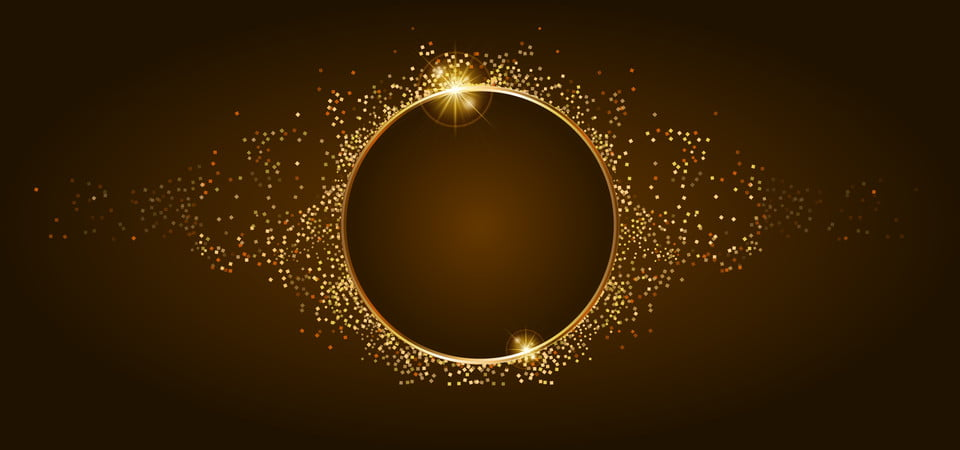 Golden Glitter And Shiny Golden Frame On Brown Background Frame Circle Shiny Background Image For Free Download