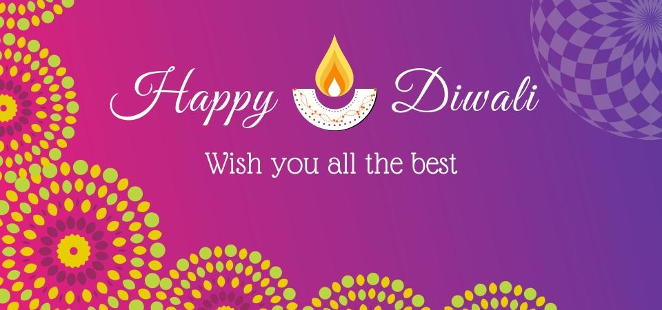 Happy Diwali Greetings Indian Festival Light Festival