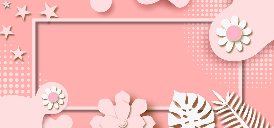 Fond De Papier Pastel Rose Avec Découpe De Fleurs Et