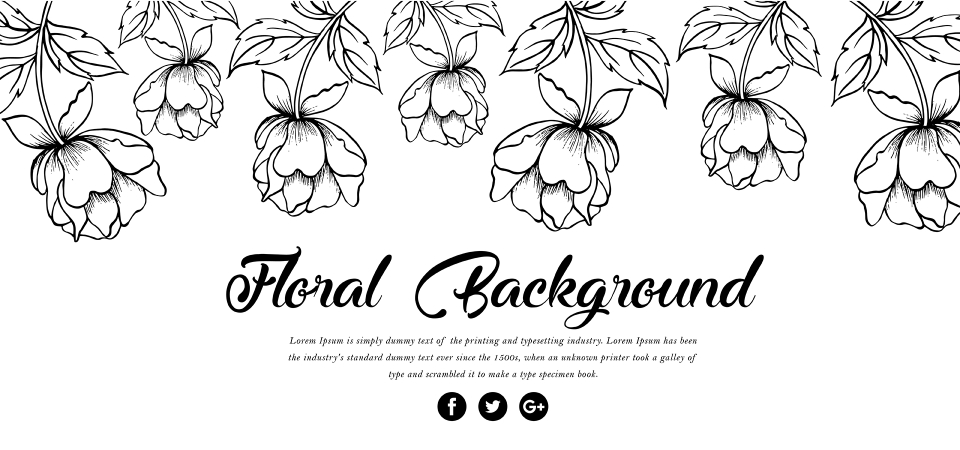 Fundo Floral De Papoulas Preto E Branco Fundo Flor Floral