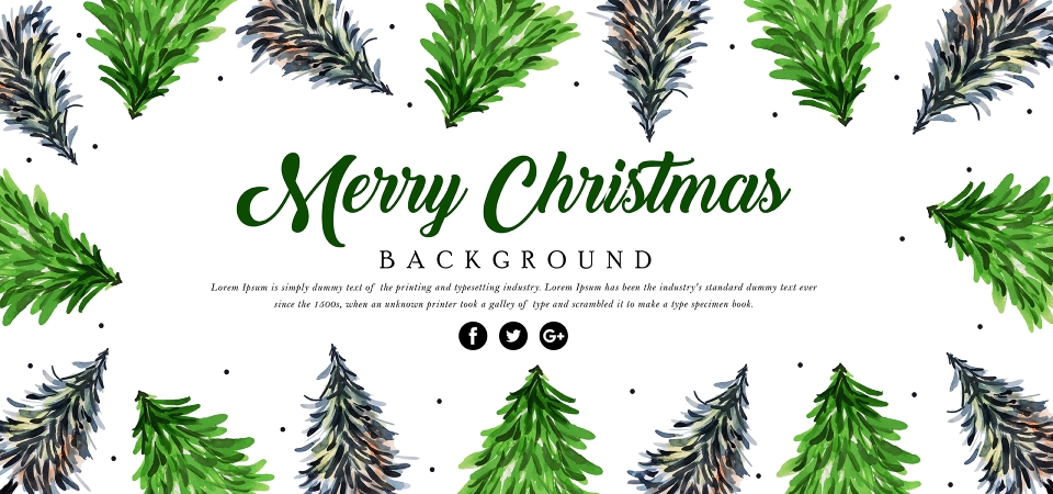 pngtree green watercolor vintage merry christmas background image 312057