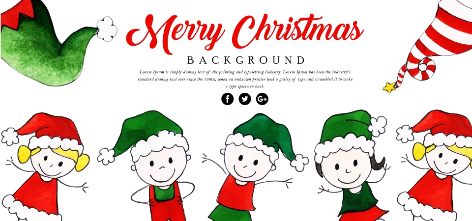 Fundo De Desenho Animado Feliz Natal Aquarela Aquarela Cor