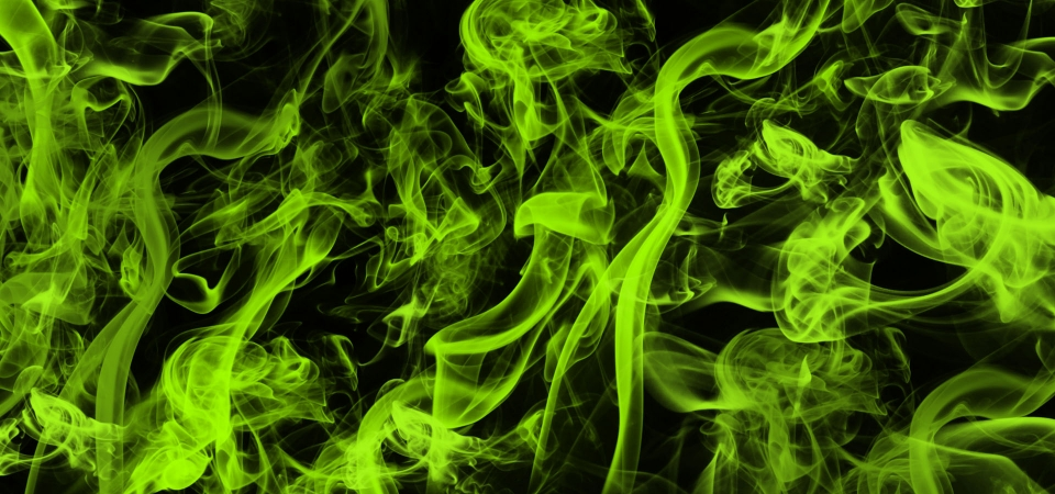 Abstract Neon Green Smoke Background Background Abstract