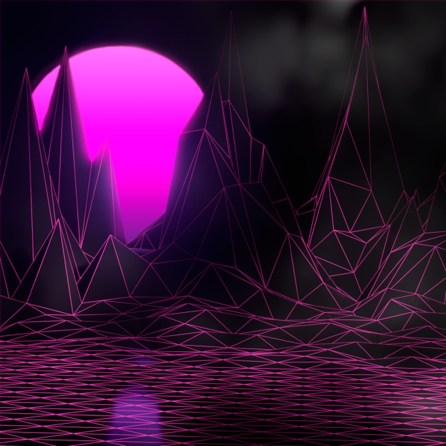 Dark Vaporwave Landscape Vaporwave Landscape Dark Background Image For Free Download