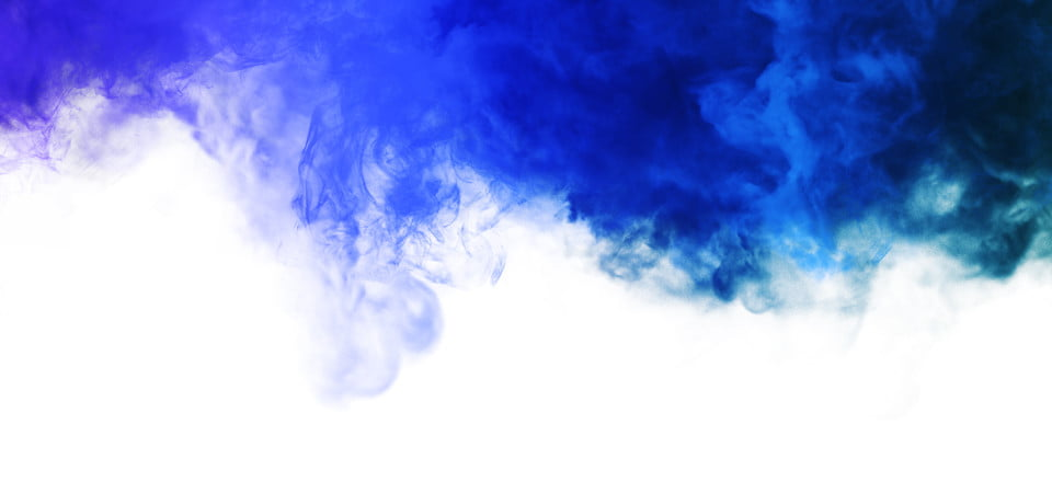 White Background With Blue Abstract Smoke On Top Abstract