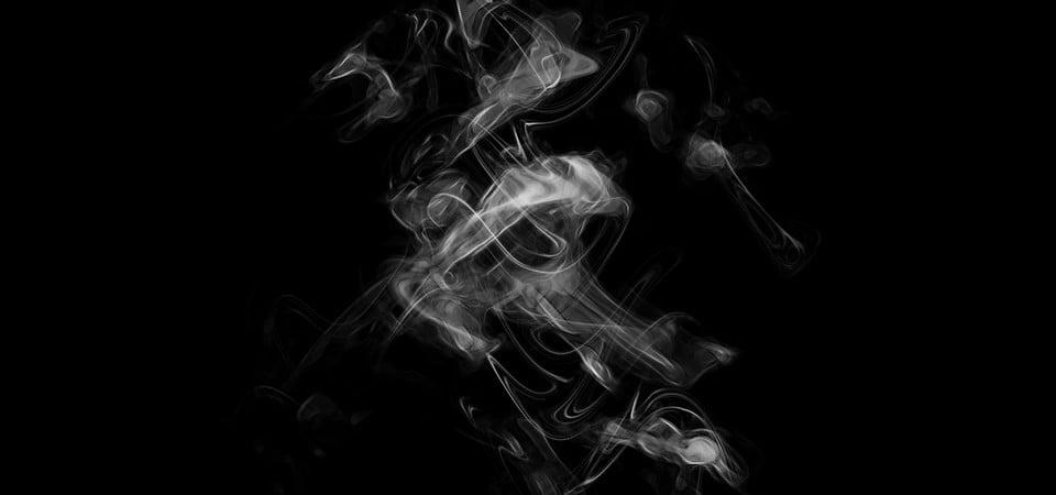 無料ダウンロードのための暗い背景に白い煙, 煙, 背景, タバコの背景画像