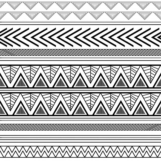 Navajo Tribal Dessine A La Main Azteque Dessin Transparente Motif Noir Et Blanc Couleurs Fond Mode Textile Emballage Pret Pour L Impression La Mode La Texture Graphique Image De Fond Pour Le Telechargement
