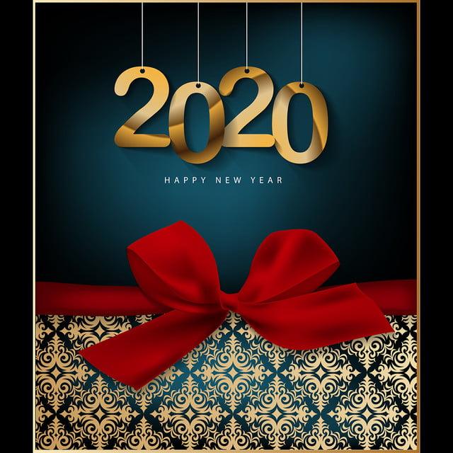 Feliz Natal 2020 Festiva Flyer Ouro Imagem De Plano De
