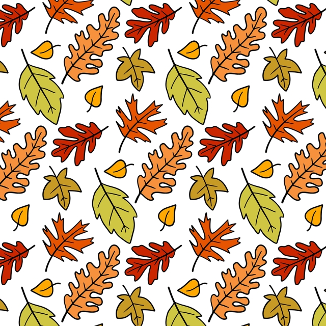 Cute Autumn Leaves Doodle Pattern Party Sketch Celebration Background Image For Free Download