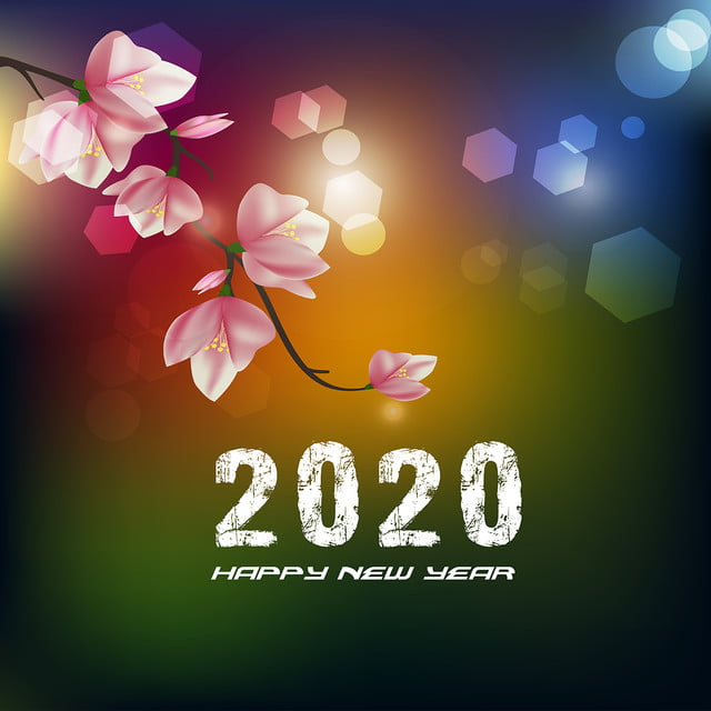 Merry Christmas Images 2020.Happy New Year 2020 Merry Christmas Flowers Design 2020