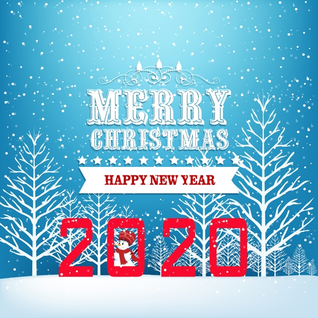 Merry Christmas Images 2020 Free Download Merry Christmas Happy Chinese New Year 2020 Year Of The Rat, 2020