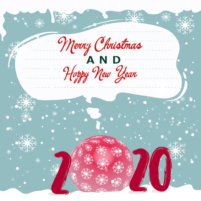 Christmas Card For Handwriting Of 2020 New Year, Bubble ...