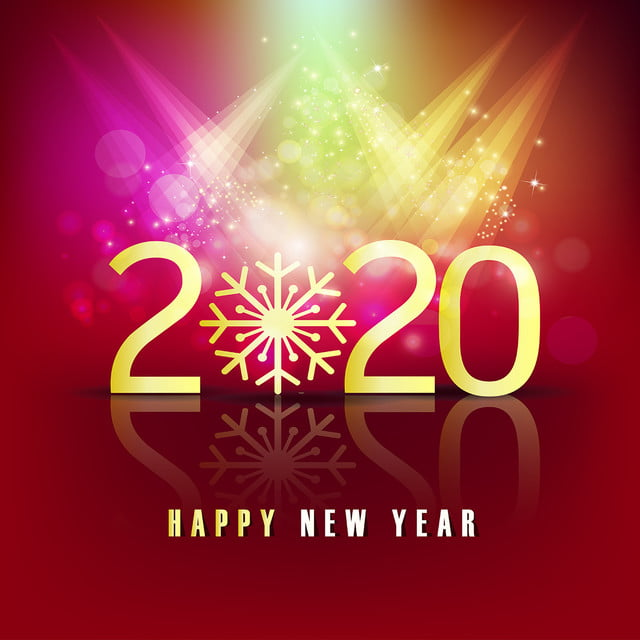 Happy New Year 2020 Red Background, 2020, 2020 New Year ...