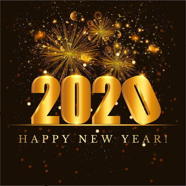 Happy New Year 2020, New Year, Background, Gold Background ...