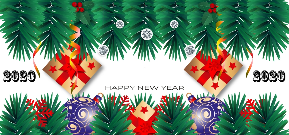 Merry Christmas 2020 Background, Background, Ball, Banner