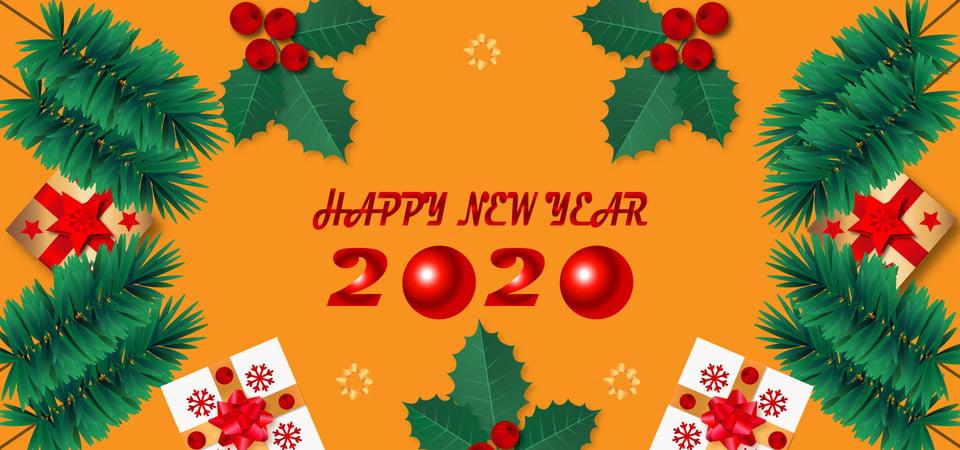 Selamat Natal Dan Tahun Baru 2020 Latar Belakang Bola Spanduk Gambar Latar Belakang Untuk Unduhan Gratis