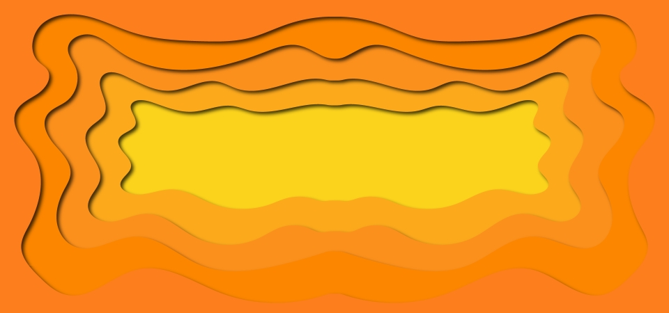 Abstract Orange Color Flow Shapes Background Abstract