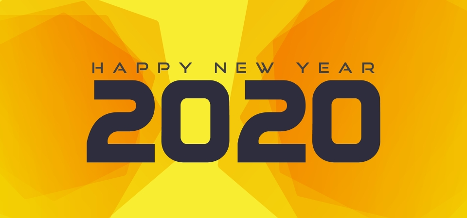 Modern Background Design For Happy New Year 2020