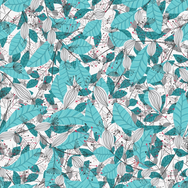 Modern Stylish Floral Pattern Fabric Print Design Elegant
