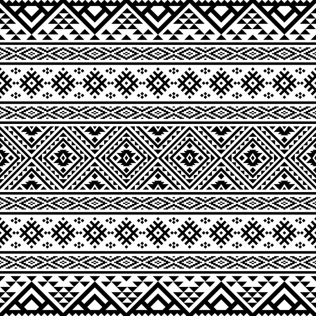 Conception D Illustration Ethnique Azteque Modele En Couleur Noir Et Blanc Pour La Bordure De Cadre De Fond Ou Decoratif Resume American Art Image De Fond Pour Le Telechargement Gratuit