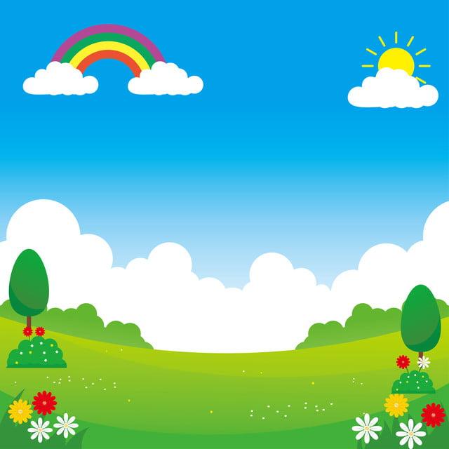 Landscape Vector Illustration With Funny Design Suitable For Kids