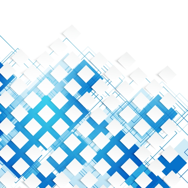 White Geometric Wallpaper With Blue Square Contour