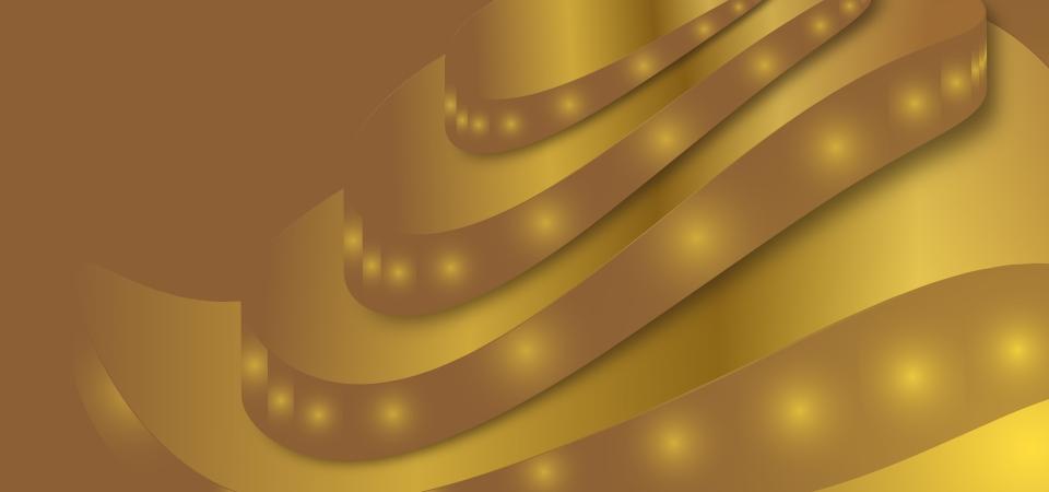 متوهجة خلفية موجة الذهب إطار ذهبي الشريط الذهبي خلفيات ذهبية صورة الخلفية للتحميل مجانا