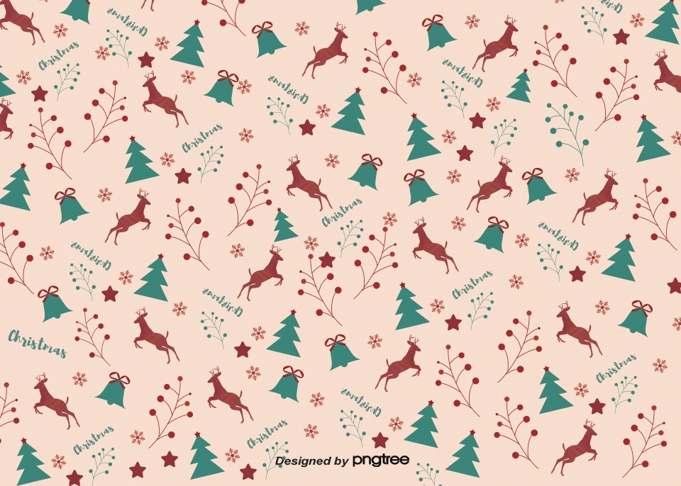 Christmas Elements Tile Background