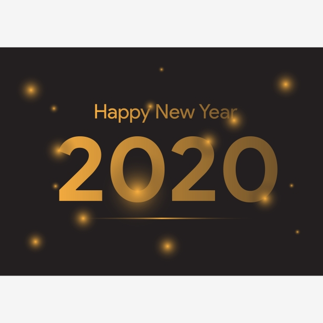 Happy New Year 2020 Vector Luxury Template Background Design For Banner Greeting Card Calendar Or Print 2020 Abstract Background Background Image For Free Download