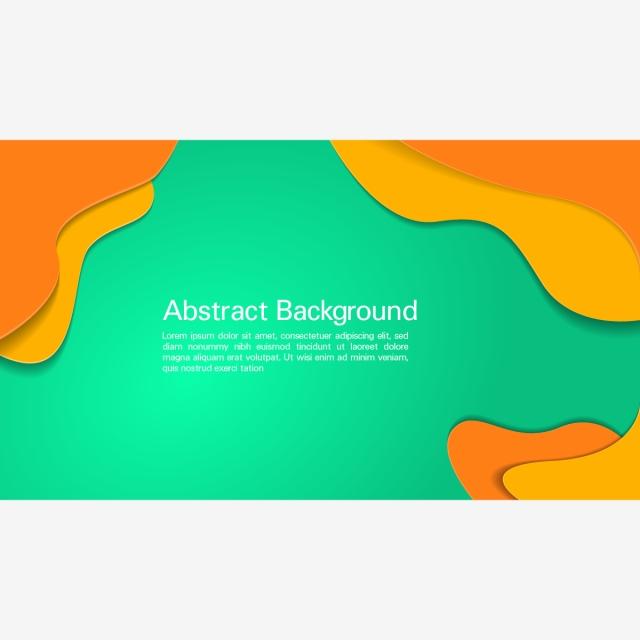 Latar Belakang Estetika Abstrak Dalam Warna Hijau Dan Oranye, Abstrak,  Ilustrasi, Gelombang Gambar Latar Belakang Untuk Unduhan Gratis