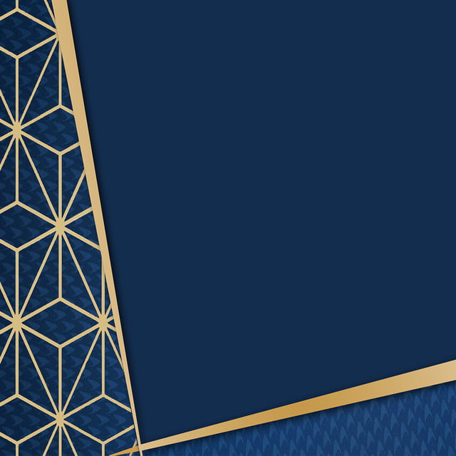 Royal Blue Background With Gold Polygon Accent, Blue, Polygon, Gold  Background Image For Free Download