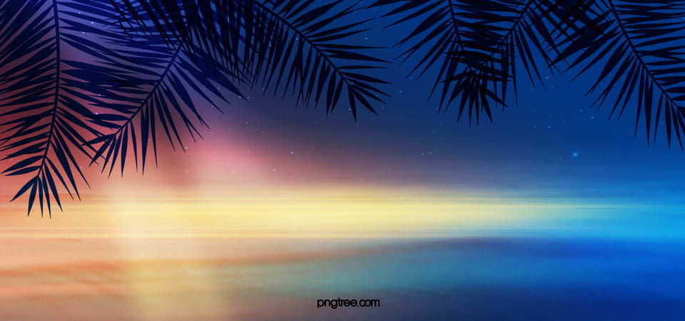 Summer Beach Night Background Light Fantasy Creative Background Image For Free Download