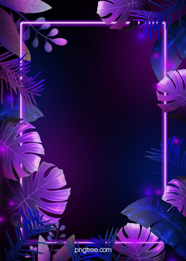 Purple Blue Neon Tropical Leaves Background Neon Tropic Leaf Background Image For Free Download Hand drawn tropical summer exotic leaves illustration. https pngtree com freebackground purple blue neon tropical leaves background 1173617 html