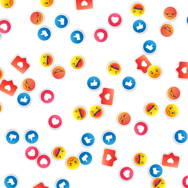 A Set Of Emoji And Facebook And Instagram Icons Background Facebook Emoticon Like Background Image For Free Download