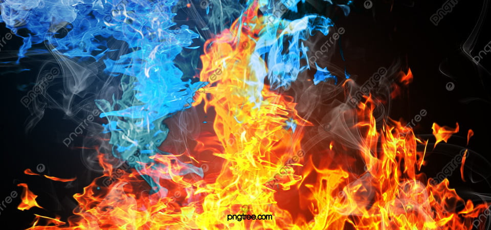 Air Dan Api Latar Belakang Tekstur Tangan Dicat Kreatif, Api, Biru, Gradien  Gambar Latar Belakang Untuk Unduhan Gratis