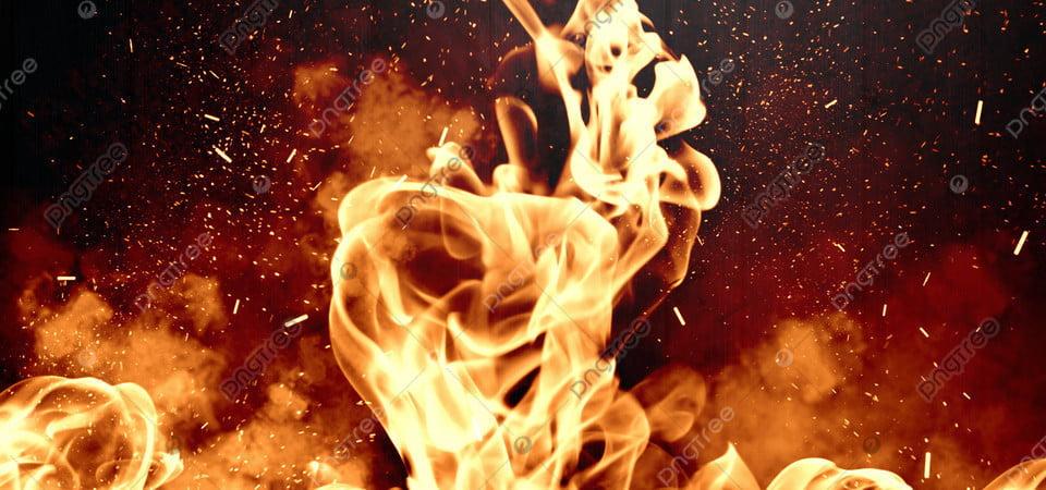 Api Latar Belakang Api Dengan Percikan Api, Api, Latar Belakang, Tekstur  Gambar Latar Belakang Untuk Unduhan Gratis