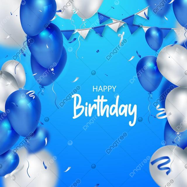 Joyeux Anniversaire Ballon Bleu Fond Carte Modele Illustration Anniversaire Anniversaire Celebration Fete Decorations Beau Sparkles Celebrant Image De Fond Pour Le Telechargement Gratuit