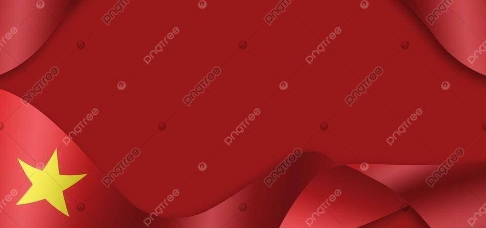 Waving Red Ribbon Around Vietnam Flag Background Drift Red Ribbon Background Image For Free Download
