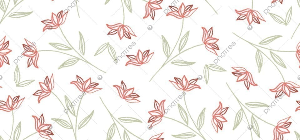 Cute Simple Red Flower Seamless Pattern Background Illustration In Hand Drawn Style Floral Background Cute Background Flower Background Background Image For Free Download