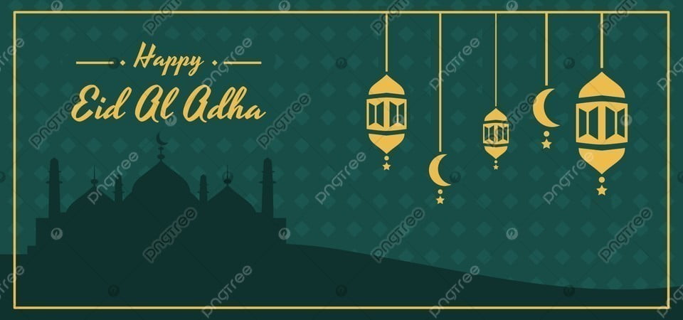 happy eid al adha banner with mosque silhouette lantern and crescent moon ornament eid mubarak eid al adha idul adha background image for free download https pngtree com freebackground happy eid al adha banner with mosque silhouette lantern and crescent moon ornament 1180897 html