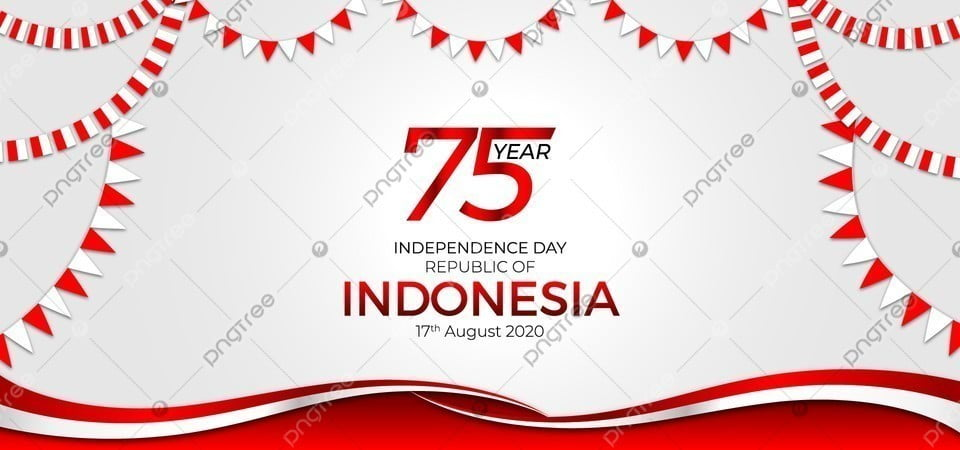 pngtree 75 year independence day indonesia 17 august 2020 background image 354051
