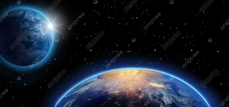 Dark Space Light Earth Background Galaxy Planet Starry Sky Background Image For Free Download