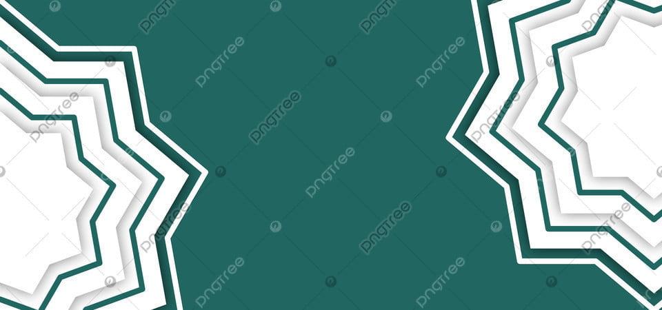 Latar Belakang Spanduk Islamic Geometris Dengan Warna Hijau Dan Putih Dan  Dengan Gaya Potongan Kertas, Latar Belakang, Spanduk, Vektor Gambar Latar  Belakang Untuk Unduhan Gratis