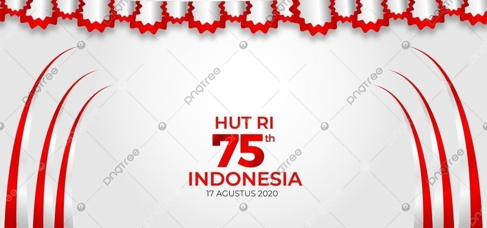 pngtree hut ri 75th indonesia merdeka background image 354885