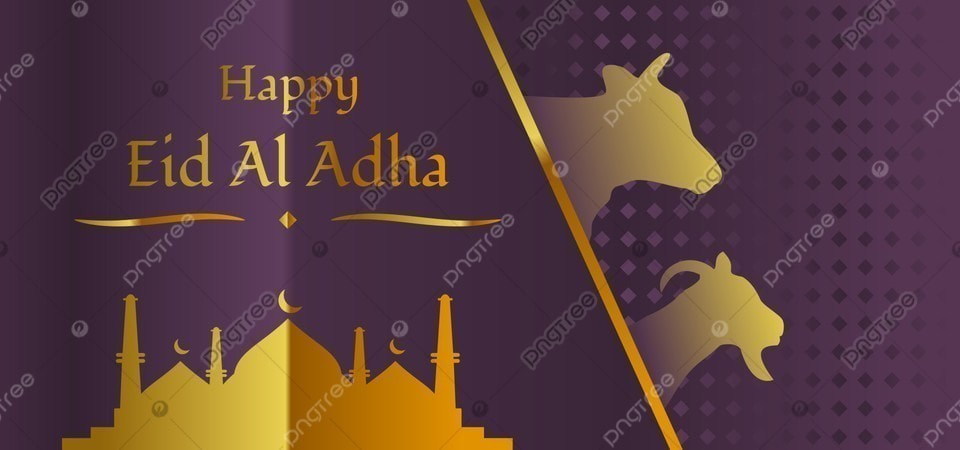 golden happy eid al adha banner with mosque cow and goat ornament eid mubarak eid al adha idul adha background image for free download https pngtree com freebackground golden happy eid al adha banner with mosque cow and goat ornament 1184750 html
