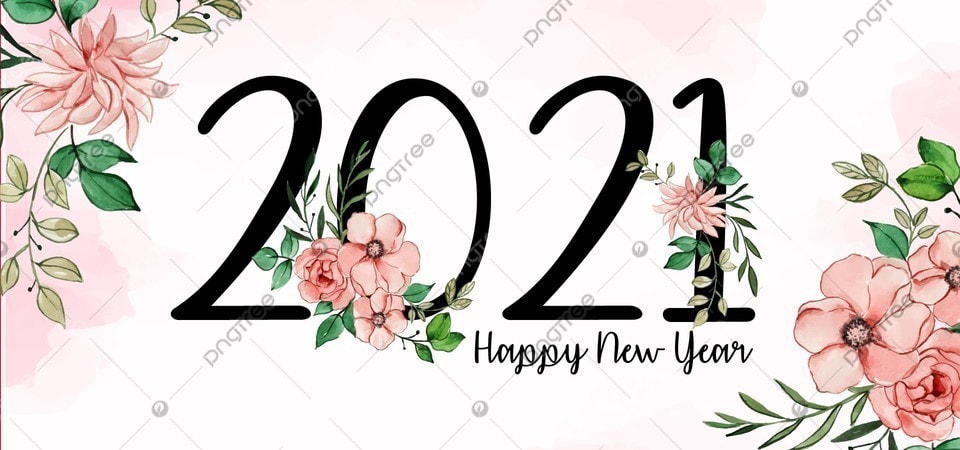 watercolor floral 2021 happy new year background 2021 happy new background image for free download https pngtree com freebackground watercolor floral 2021 happy new year background 1196804 html