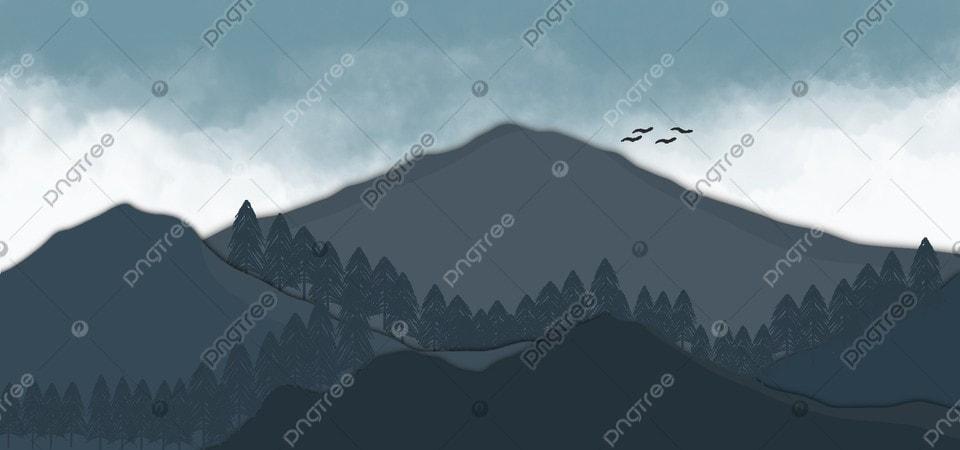 Latar Belakang Ilustrasi Pemandangan Alam Pegunungan Gunung Pemandangan Latar Belakang Gambar Latar Belakang Untuk Unduhan Gratis