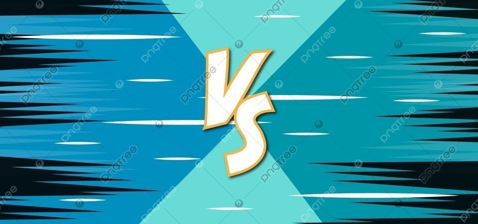 Simple Versus Background With Blue Two Sides And Sharp Line In Retro Comic Cartoon Style Fight Competition Game Background Image For Free Download