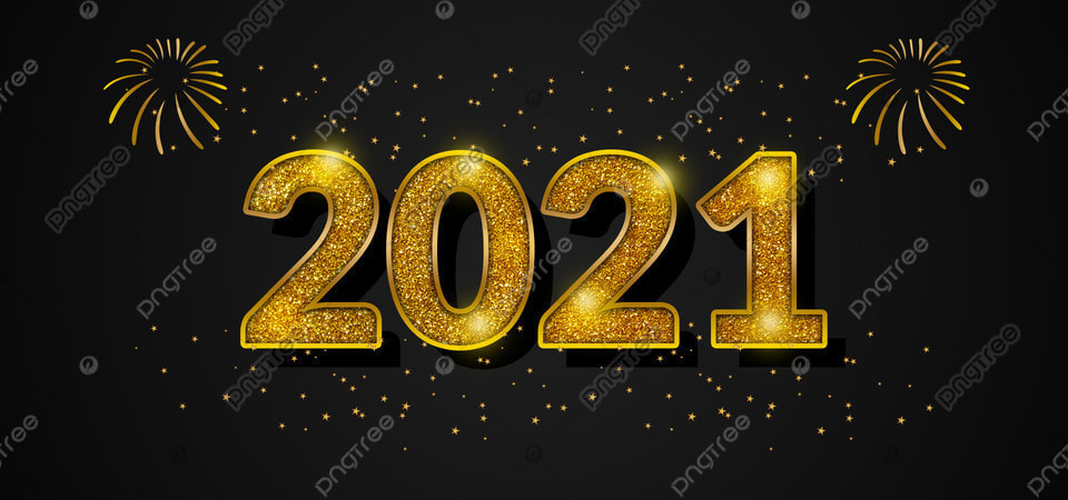 2021 Background Happy New Year Gold Glitter Text, 2021 ...